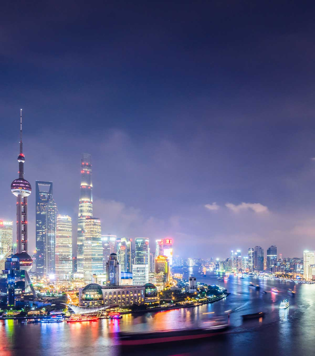 Shanghai skyline, background for explore CRS's recruitment fair in Shanghai